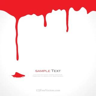 Blood Drips Illustration