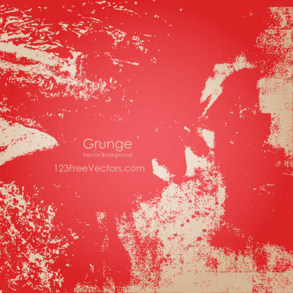 Free Vector Red Grunge Background