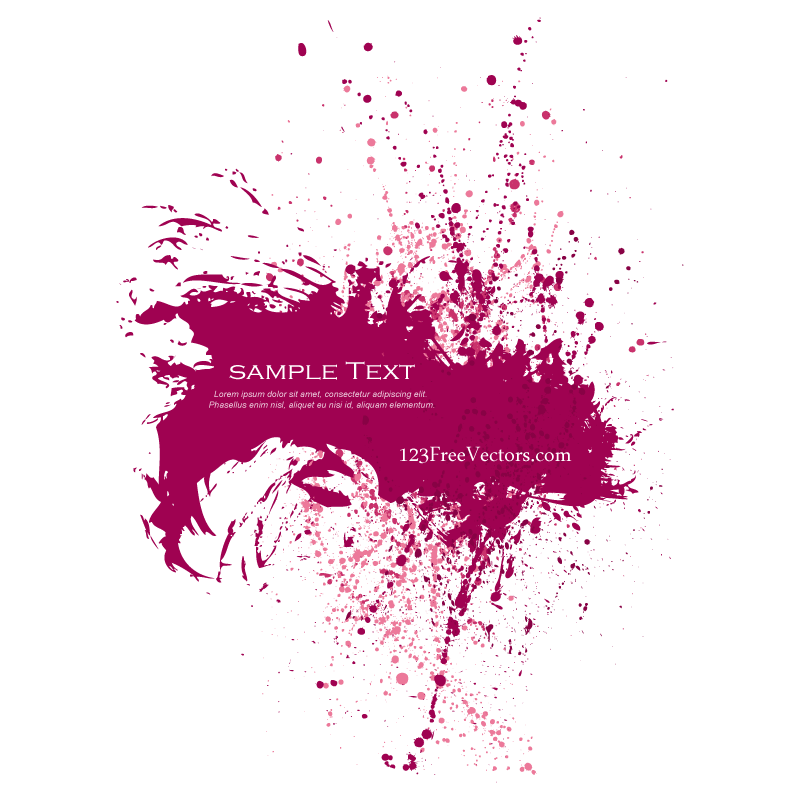 Pink Paint Splatter Background