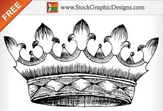 Free Vector Hand Drawn Heraldic Crown
