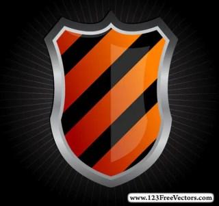 Glossy Medieval Heraldic Shield Vector