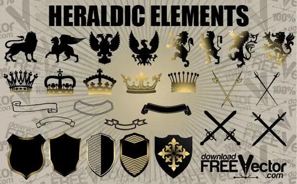 Free Vector Heraldic Elements