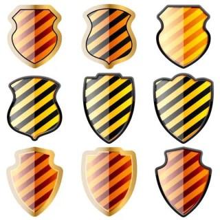 Free Vector Glossy Shield
