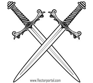 Free Crossed Swords Vector