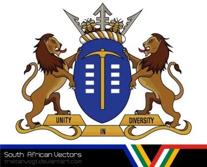 South African Vectors – Gauteng Coat of Arms