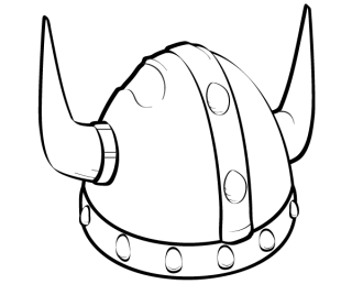 Free Viking Helmet Vector