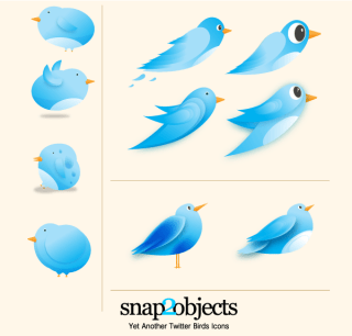 Vector Twitter Birds Icons