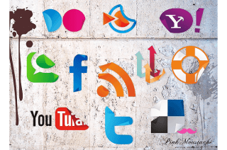 Free Vector Social Media Icons Sticker Set