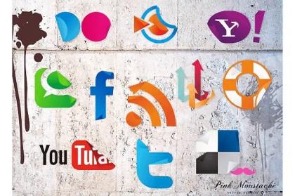 Free Vector Social Media Icons Sticker Set