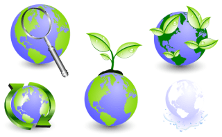 Free Eco Globe Icons Vector