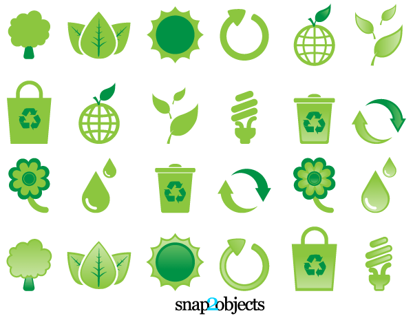 Free Ecological Vector Design Elements