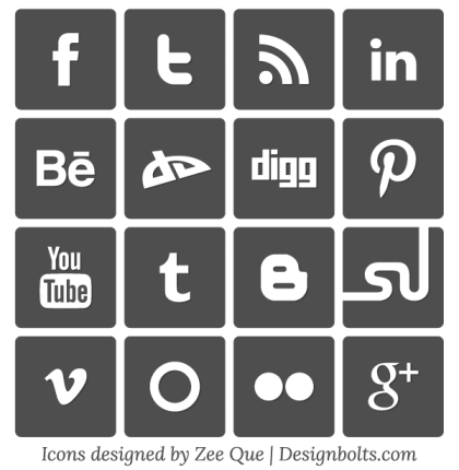 Free Simple Vector Social Media Icons Set