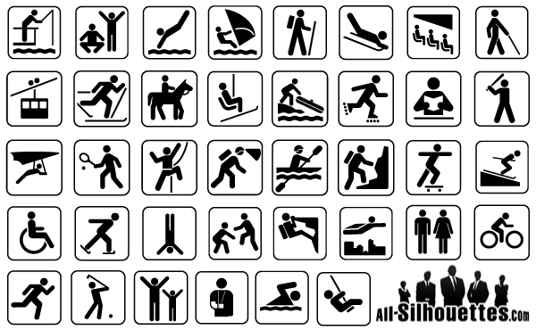 Free Vector Sport Man Signs