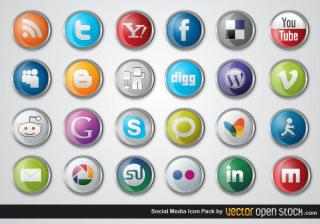 Social Media Icons Vector Free Pack