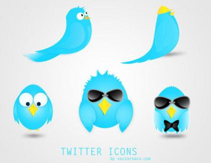Twitter Icons Free Vector Set