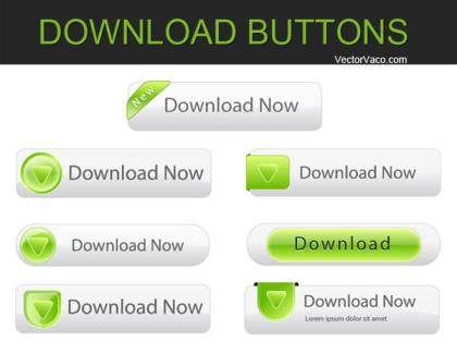 Free Vector Download Buttons