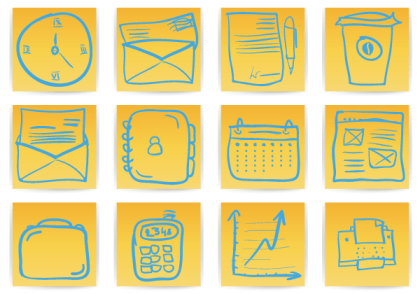 Free Office & Business Hand Drawn Icons Vector