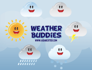 Cute Weather Vector Icons