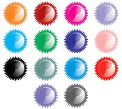 Shiny Star Button Icon Design Vector