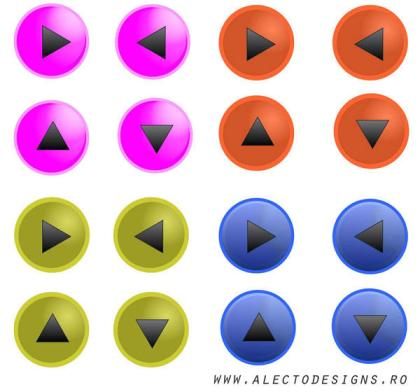 Free Glass Effect Round Button Vectors