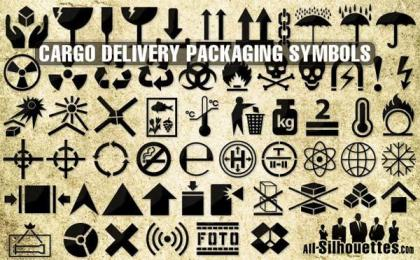 Cargo Delivery Packaging Symbols Vector Free