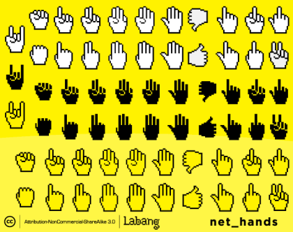 Web Icons: Hands Icons Free Vector Set