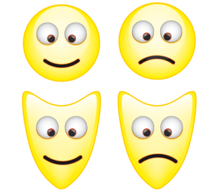 Smiley Mask Vector Icons Free