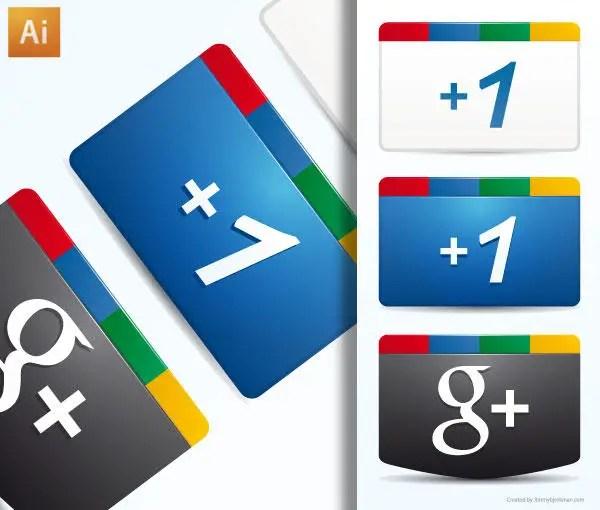 Free Google Plus Icon Vector Ai