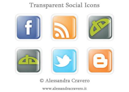 Transparent Social Media Icons Vector