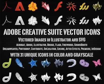 Adobe Creative Suite Icons Vector Free