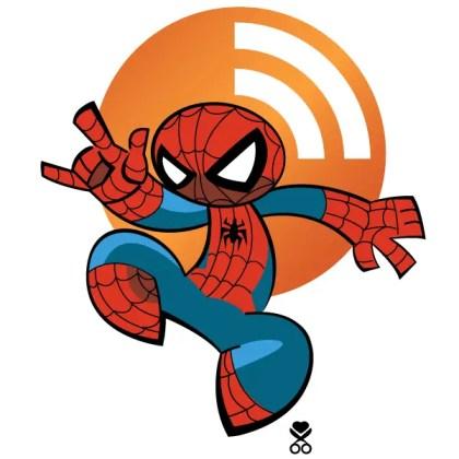 Vector Spiderman RSS Icon