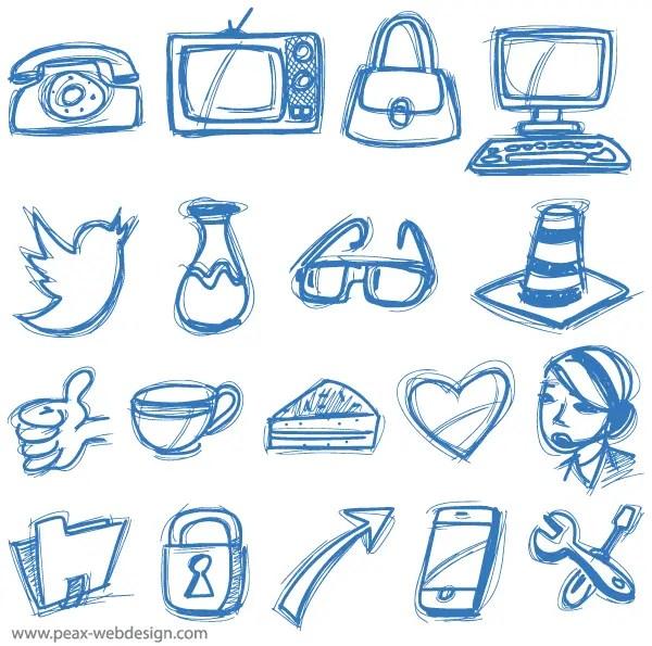 Vector Sketch Icons