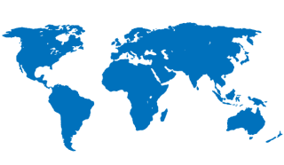 Blue World Map Free Vector