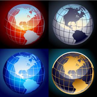 Free Earth Globe Vector Set