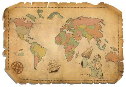 Free Antique World Map Vector