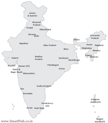 Free Vector Map of India