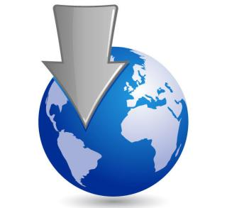 Free Vector Globe with a Silver Arrow