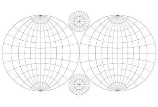 Vector Double Hemisphere Map Template