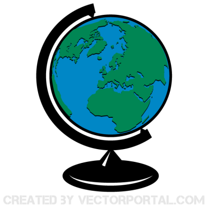 Earth Globe Vector Clip Art