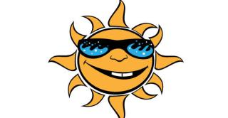 Sun with Glasses Vector