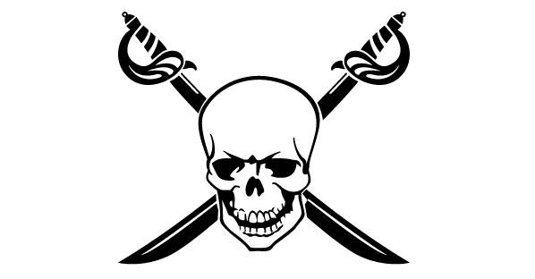 Crossed Swords and Skull Vector