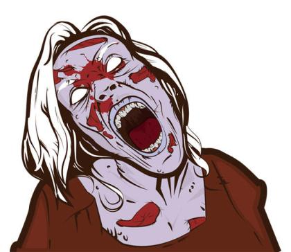 Free Scary Zombie Girl Vector