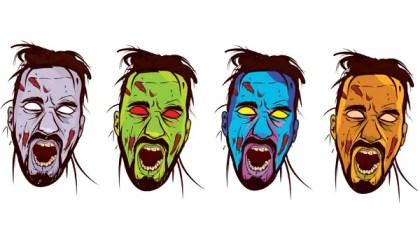 Zombie Face Color Vector