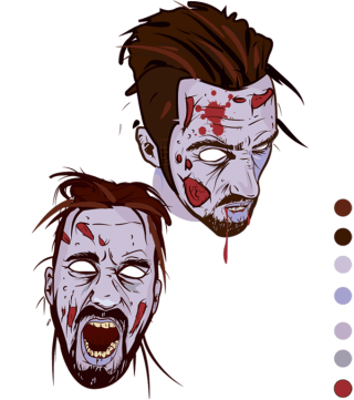 Scary Zombie Face Vector Graphics