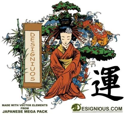 Japanese vector Illustration