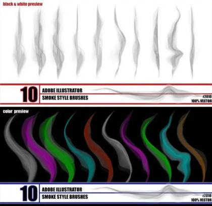 Smoke Illustrator Brushes Free Download
