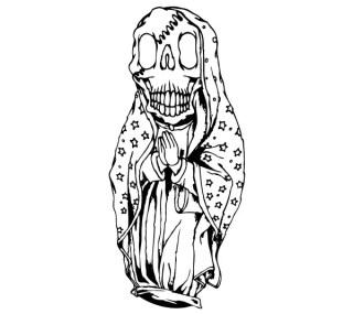 Skull Guadalupe Vector Art