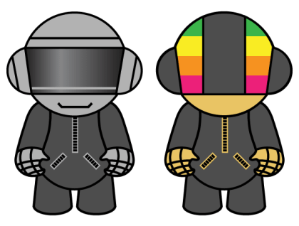 Free Vector Resource Daft Punk Dolls
