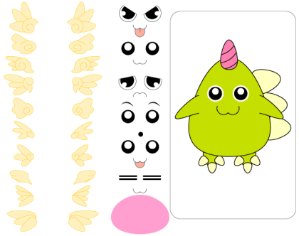 Cute Free Vector Monster