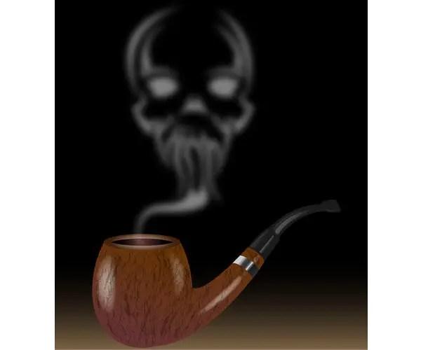 Pipe Smoke Skull Vector